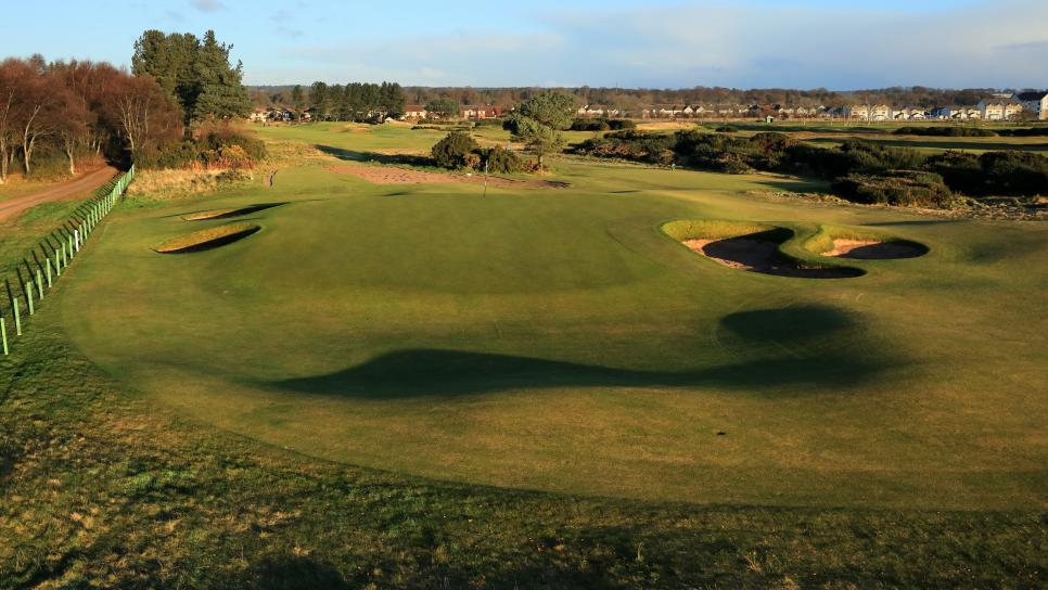 General Views of the Championship Links at Carnoustie Golf Club