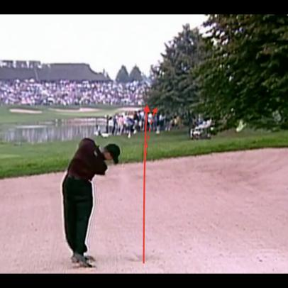 A frame-by-frame breakdown of Tiger's legendary Canadian Open bunker shot