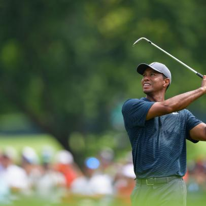 PGA Championship 2018: A stumble, a shirt-change and a changing of the guard can't distract Tiger Woods