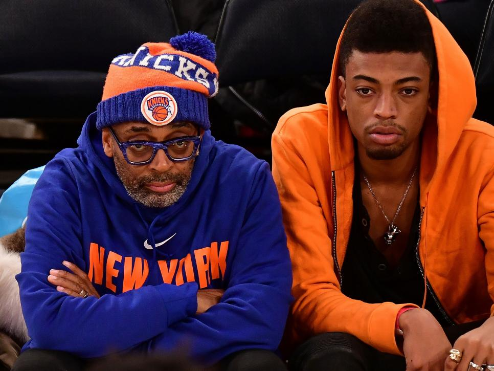 Celebrities Attend The New York Knicks Vs San Antonio Spurs Game