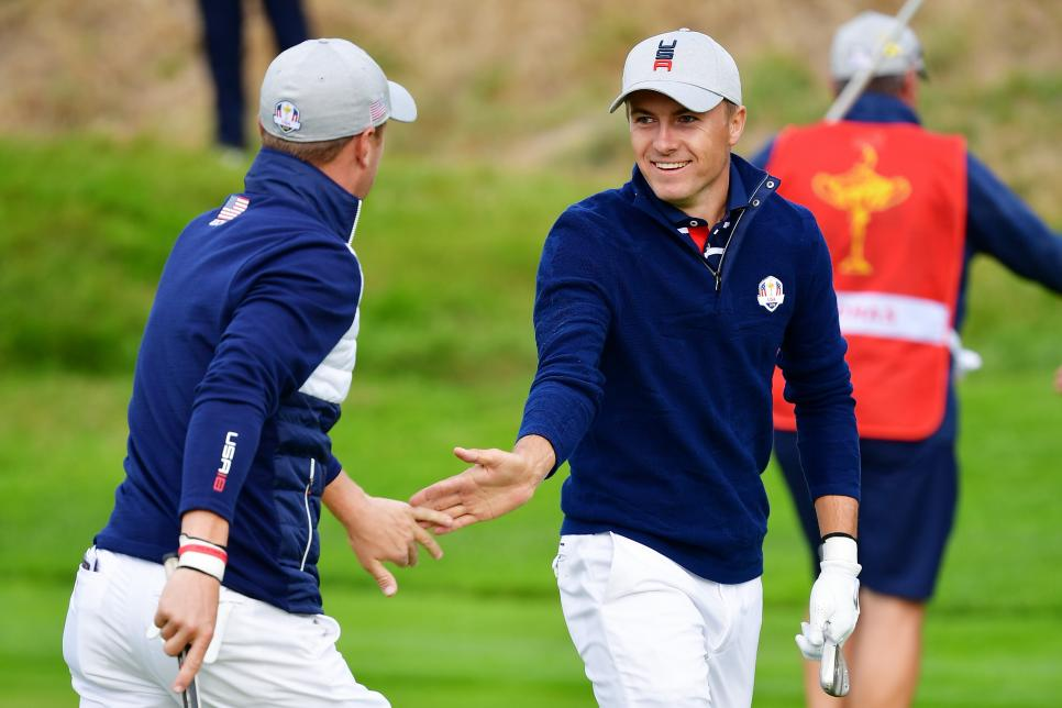 spieth thomas 2018 Ryder Cup - Morning Fourball Matches