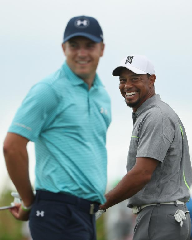 Sign of the times: Tiger Woods vaults past Jordan Spieth ...