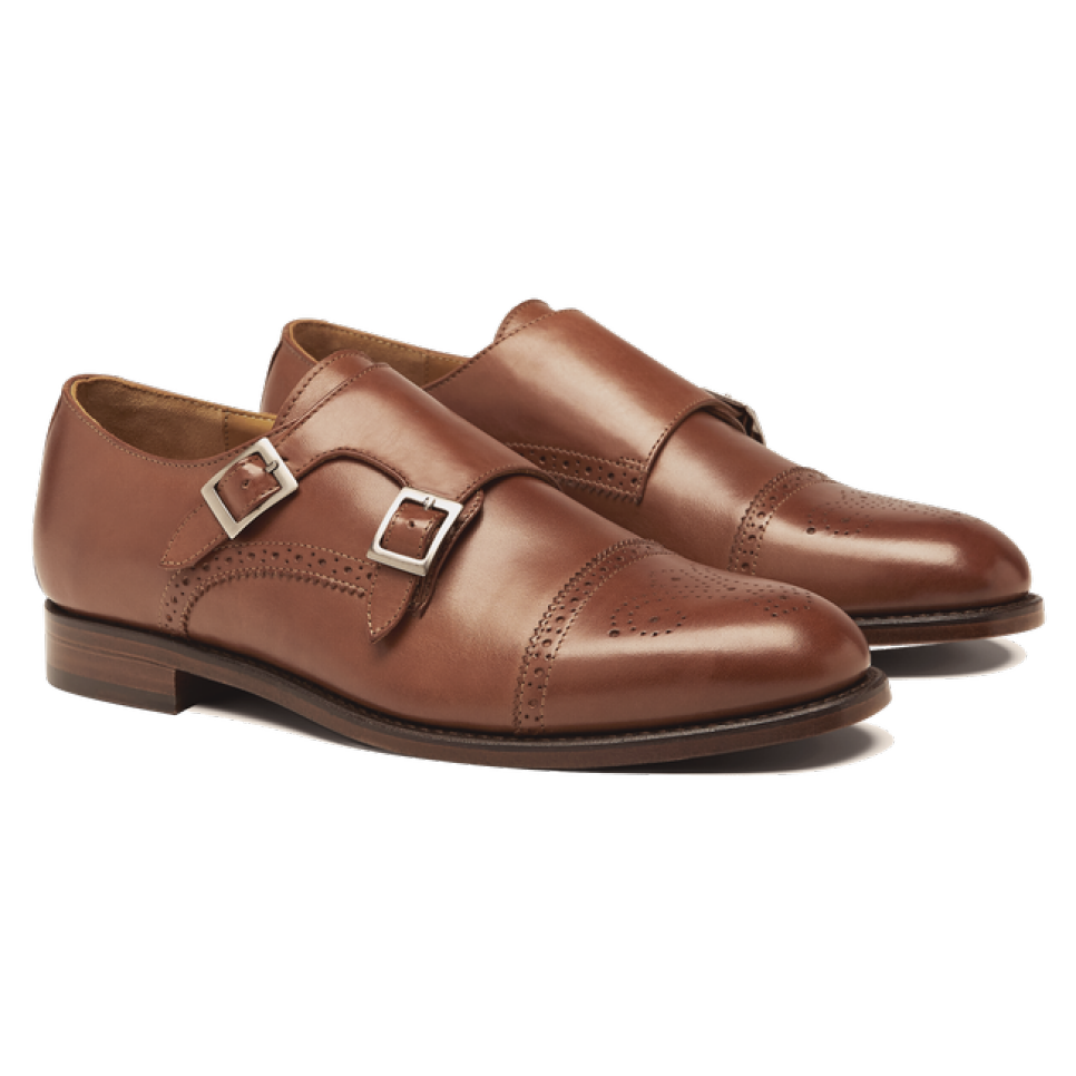 Shoe- Double Monk Strap Brown 2.png