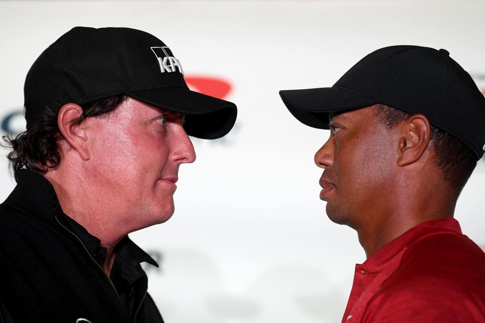 The Match: Tiger vs Phil - Practice Round and Press Conference