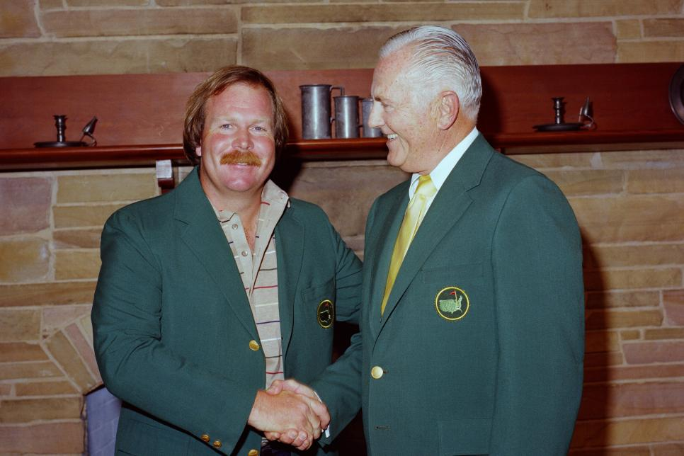 Champion Craig Stadler And Chairman Hord Hardin In The Butler Cabin At The Presentation Ceremony Of The 1982 Masters Tournament