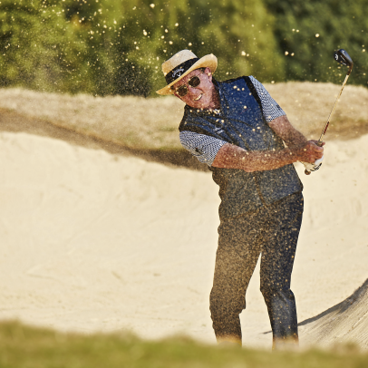 Get long bunker shots to the hole