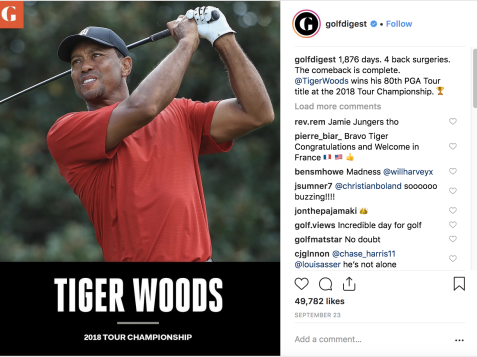The top Instagram golf posts of 2018