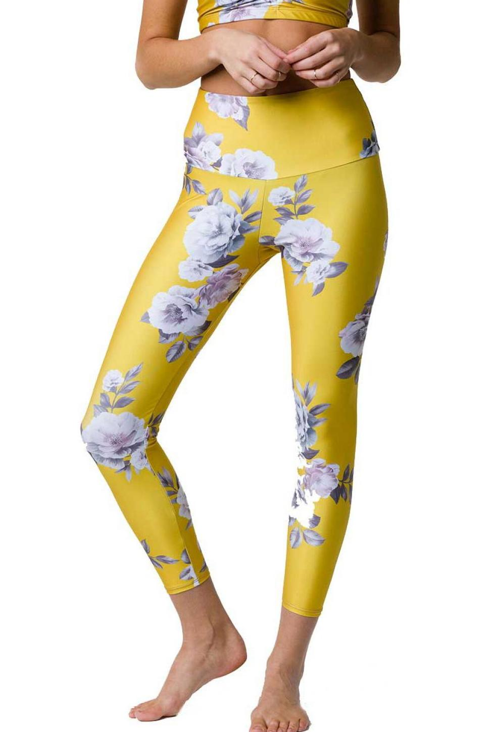 Onzie Golden Floral Leggings.jpeg