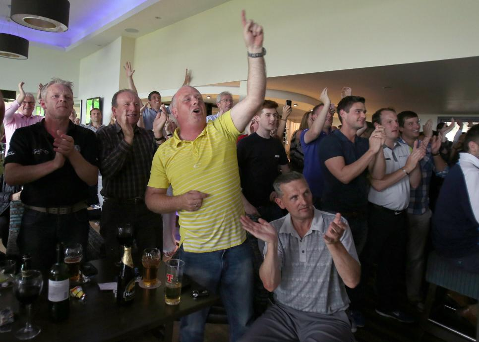 Golf - The Open Championship 2014 - Rory McIlroy Fans - Holywood Golf Course