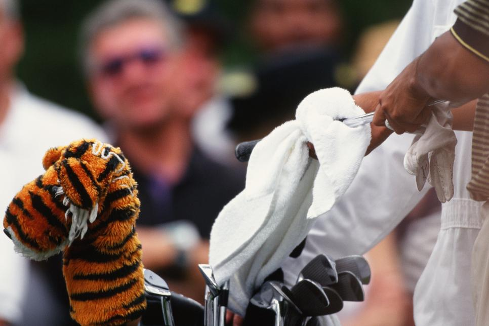 Tiger Woods' Headcover During The 1997 Masters Tournament