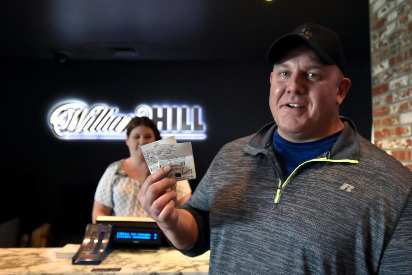 William Hill US Presents Bettor With $1.19M Check At William Hill Sports Book At SLS Casino After Tiger Woods' Masters Victory