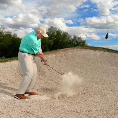 Butch Harmon on mastering the short-sided bunker shot