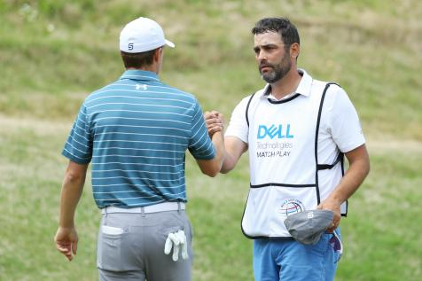 Michael Greller receives gift from fellow caddies to deceased father's foundation, says it rivals any of Jordan Spieth's three majors