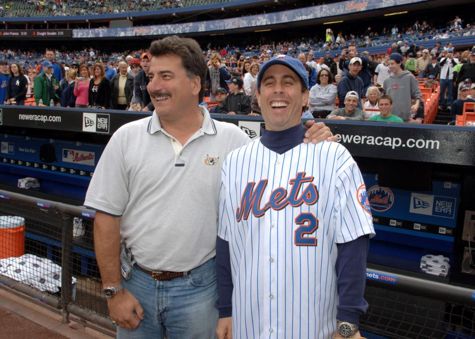 "Jerry Seinfeld Throws The First Pitch at The Mets/Yankees Subway Series Game to Promote the ""Seinfeld"" Season 4 DVD Release"