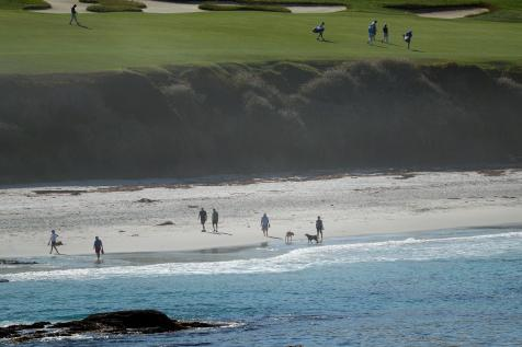 U.S. Open 2019: On the beach below Pebble, golf fans, dog walkers, and an underrated view