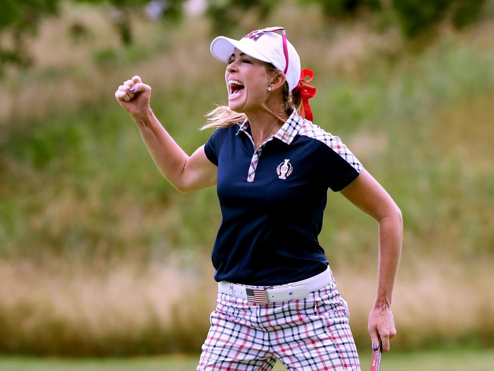 paula creamer The Solheim Cup - Day Three