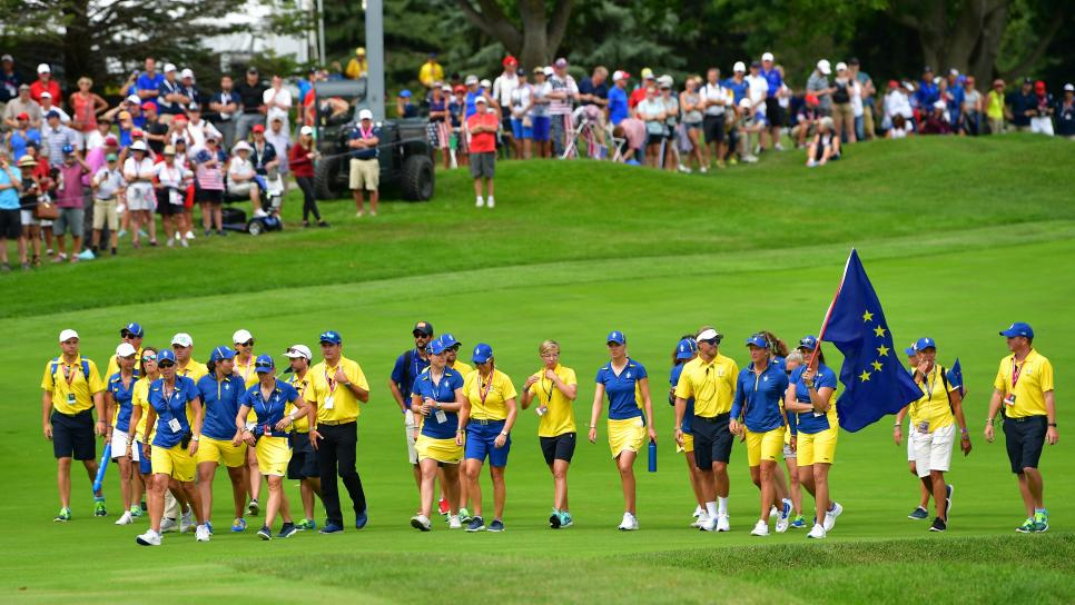 team europe The Solheim Cup - Day Three