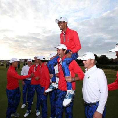 "Americans win Walker Cup, Casey avoids bizarre ruling for Euro Tour victory and Koepka gets ""SportsCenter"" commercial: What you missed"