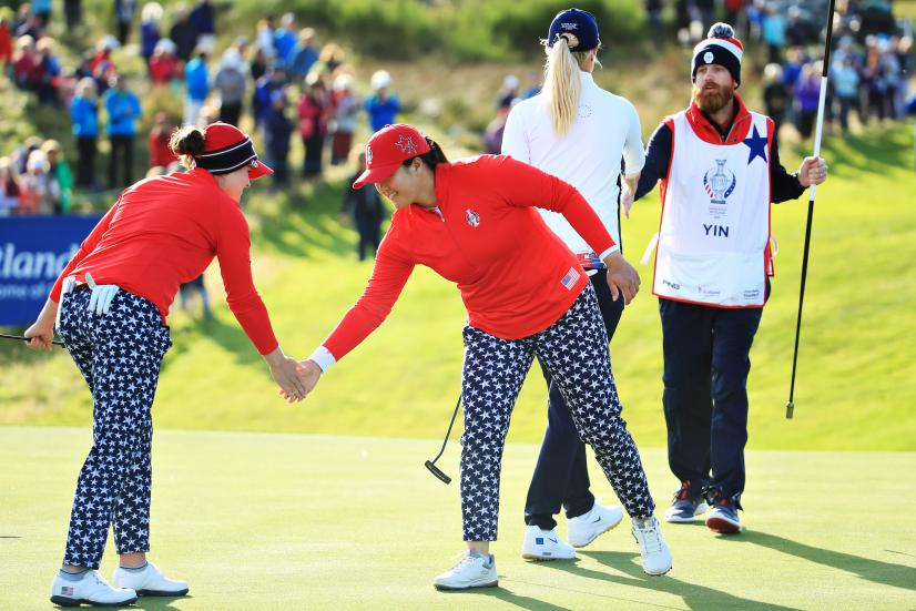angel yin The Solheim Cup - Day 1