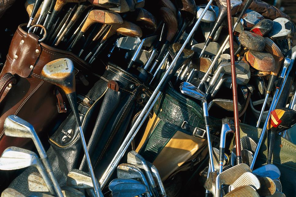 Old golf clubs, Florida, USA, America