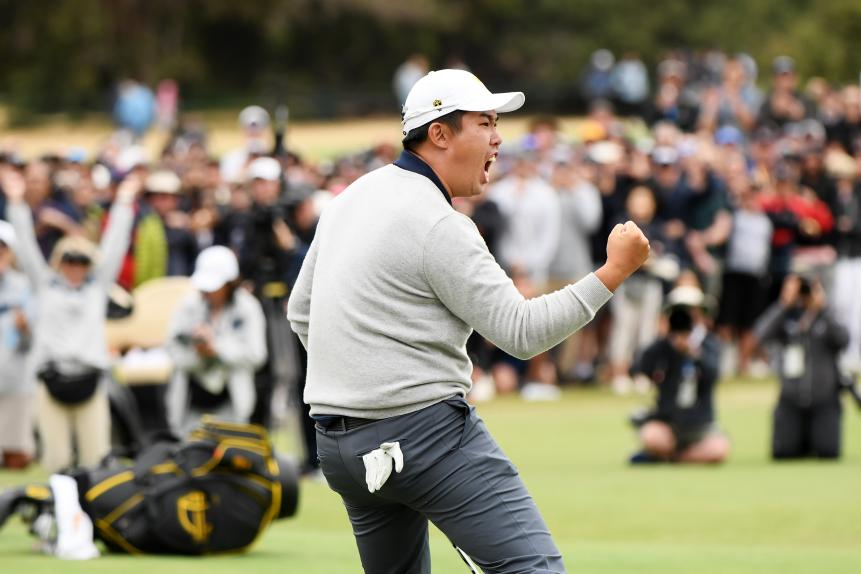 2019 Presidents Cup - Day 3 - Byeong Hun An