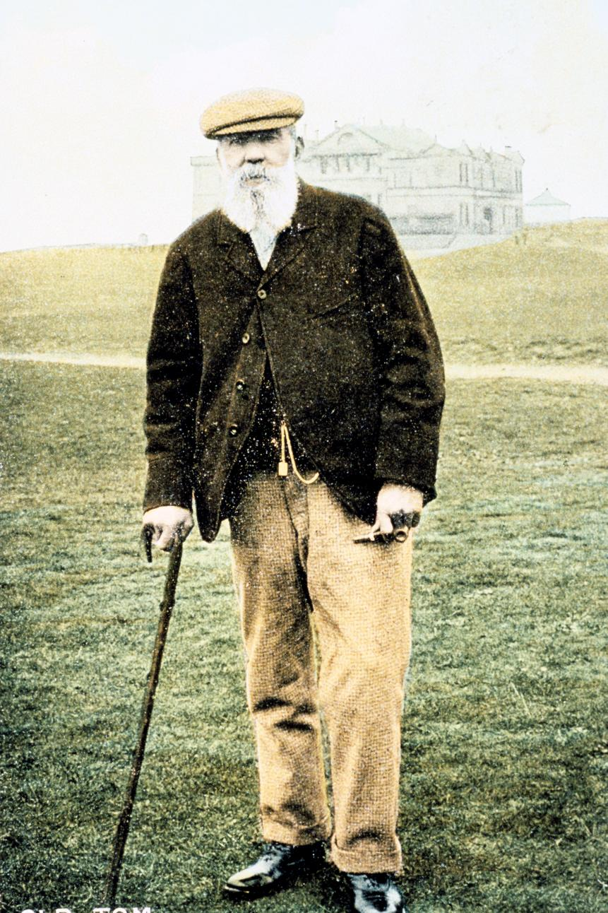 Old Tom Morris, Scottish golfer, postcard, 1900.