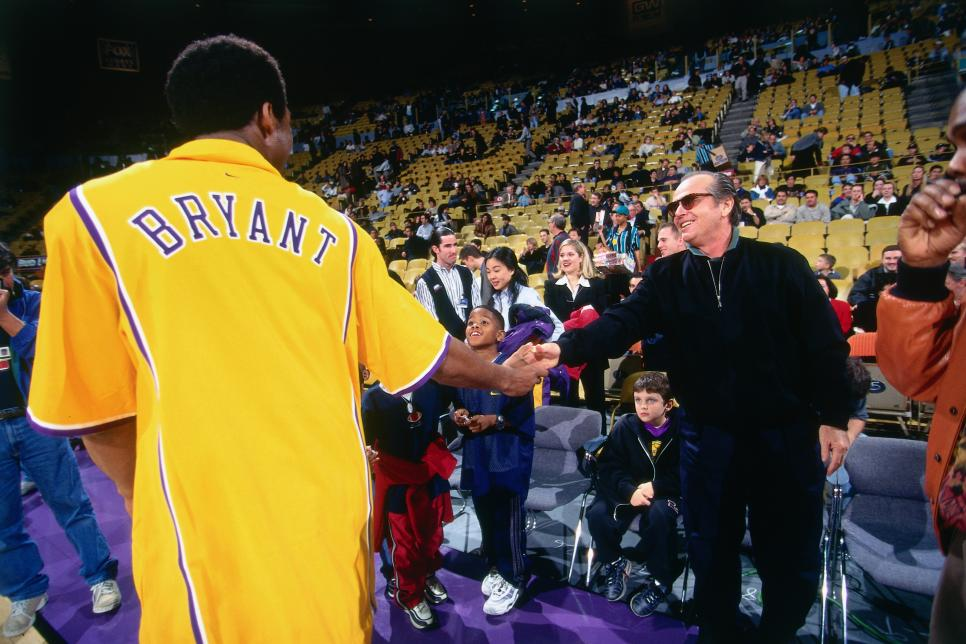 Los Angeles Lakers Kobe Bryant and Jack Nicholson