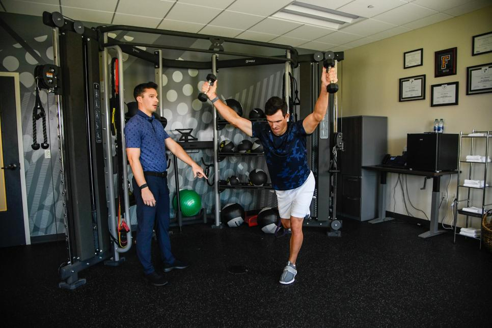 Billy Horschel with fitness specialist Alex Bennett
