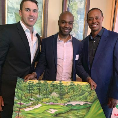 The special moment at Augusta between Tiger Woods and Valentino Dixon