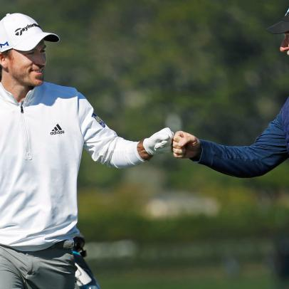What it was like playing alongside the winner of this year's AT&T Pebble Beach