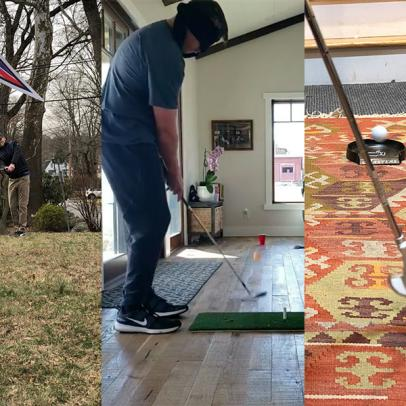 How creative is your quarantine golf setup? We want to feature the best