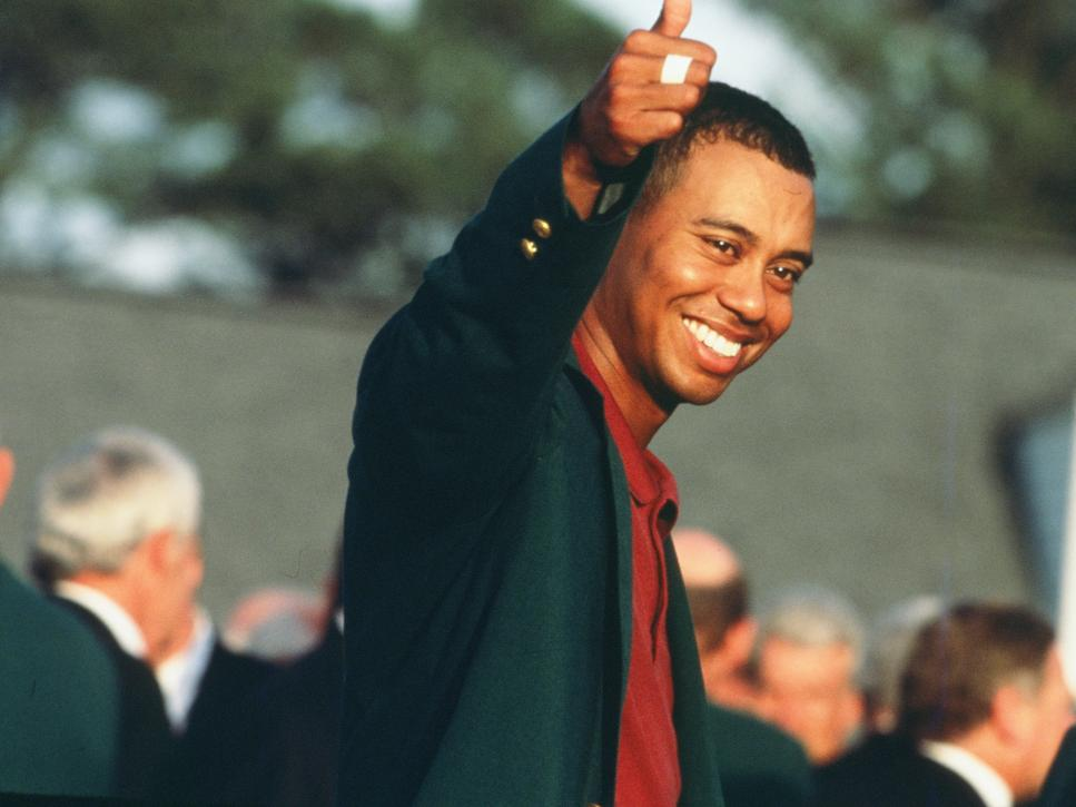 Tiger Woods At The Presentation Ceremony Of The 2002 Masters Tournament
