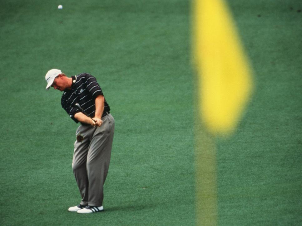 Ernie Els Swings During The 2002 Masters Tournament