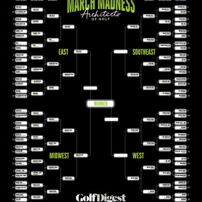 Who is the greatest golf course architect ever*? Golf Digest's March Madness Bracket Challenge seeks to find out