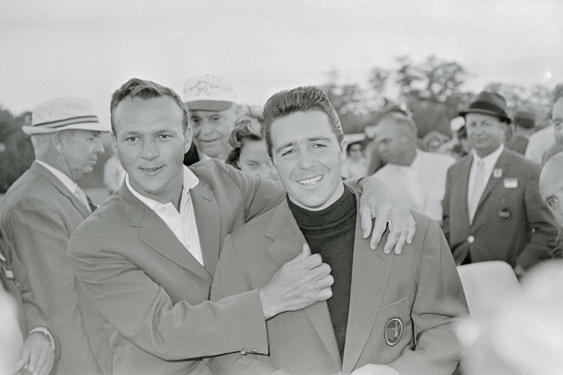 Golfers Arnold Palmer and Gary Player at Masters