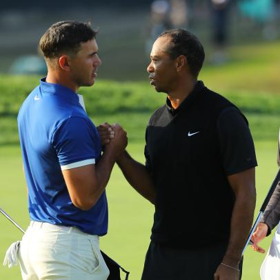 Brooks Koepka wanted to point at Tiger after making a putt at the Masters last year (but he missed)