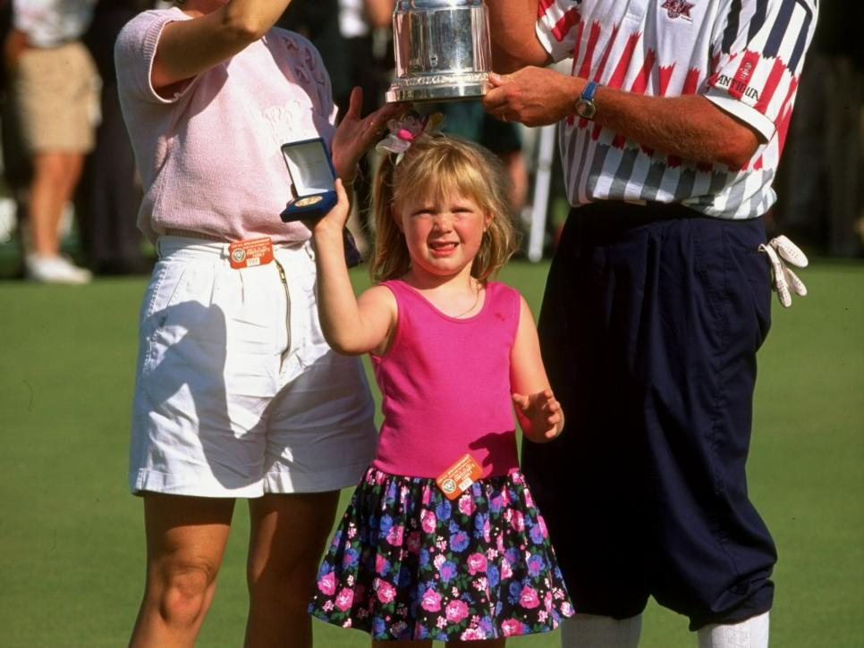 Mr and Mrs Payne Stewart with daughter Chelsea