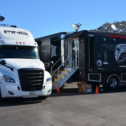 Equipment trucks will be allowed at stripped-down PGA Tour events, but with limitations