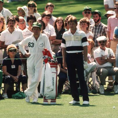 Nick Price says caddie was joking about being drunk during his record-setting round at the 1986 Masters