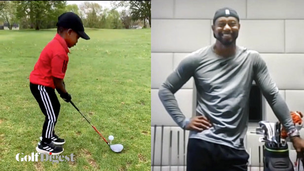 Tiger Woods fixes amateurs' swings, putting his golf IQ on full display