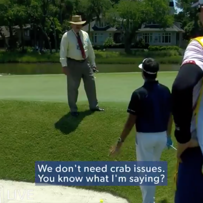 This conversation about a crab between Rory and Bubba is the best case for mic'd up players