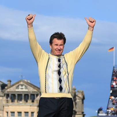 Nick Faldo on winning six majors, working remotely, and his epic sweater collection