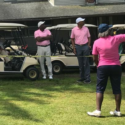 Retired black military officers who are golf fanatics make a timely visit to Renee Powell's historic course