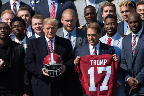 "Donald Trump crediting Tommy Tuberville for ""Lou"" Saban's career might have Alabama voting blue"