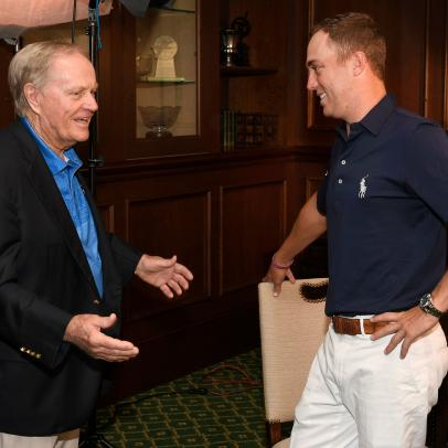 There's a funny story why Jack Nicklaus had to send Justin Thomas an apology text last Sunday