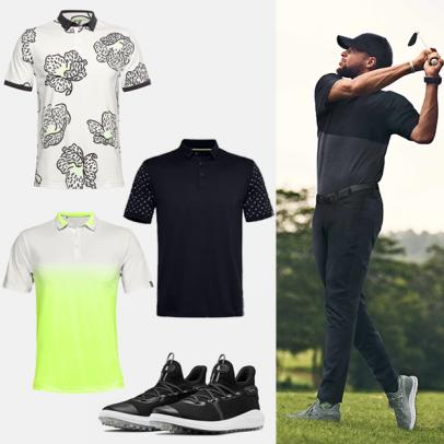 Here's what is available from Steph Curry's new golf line and what you'll have to wait to buy