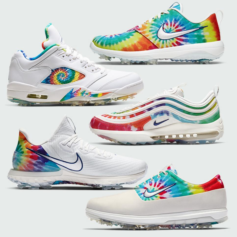 Nike Tie Dye Air Jordans Air Max 97s Roshe Gs And Zoom Infinity Tour Golf Shoes To Be Released For 2020 Pga Championship Golf Digest