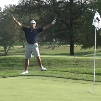 Watch the incredible walk-off eagle chip-in that won this N.J. amateur the MGA's Ike Championship