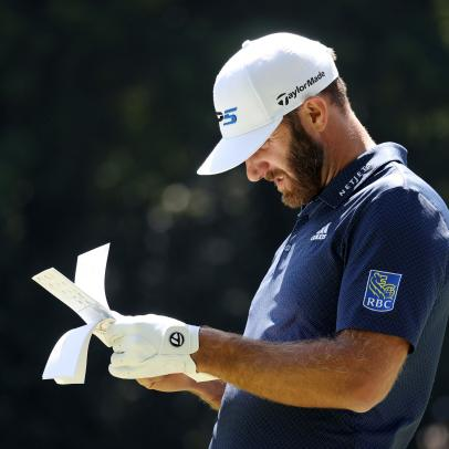 PGA Championship 2020: Dustin Johnson shoots a 65, grabs 54-hole lead, all while missing this from his bag