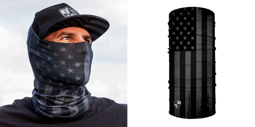 Free GIft! 1 Face shield balaclava Blackout Flag  Scarf Neck Shield Sun Gaiter
